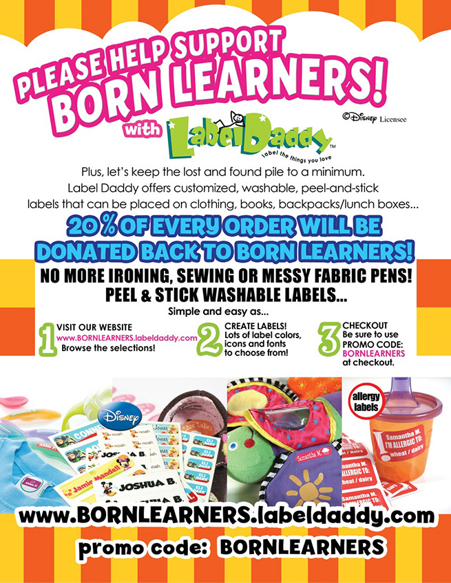 Born Learners Label Daddy Flyer